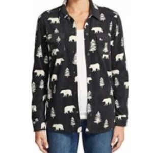 Eddie Bauer Chutes Fleece Shirt/Jacket- polar bear